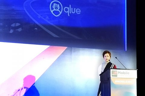 CCO Qlue Maya Arvini sedang menjelaskan mengenai solusi teknologi Qlue yang sukses diterapkan di beberapa kota di Indonesia.
