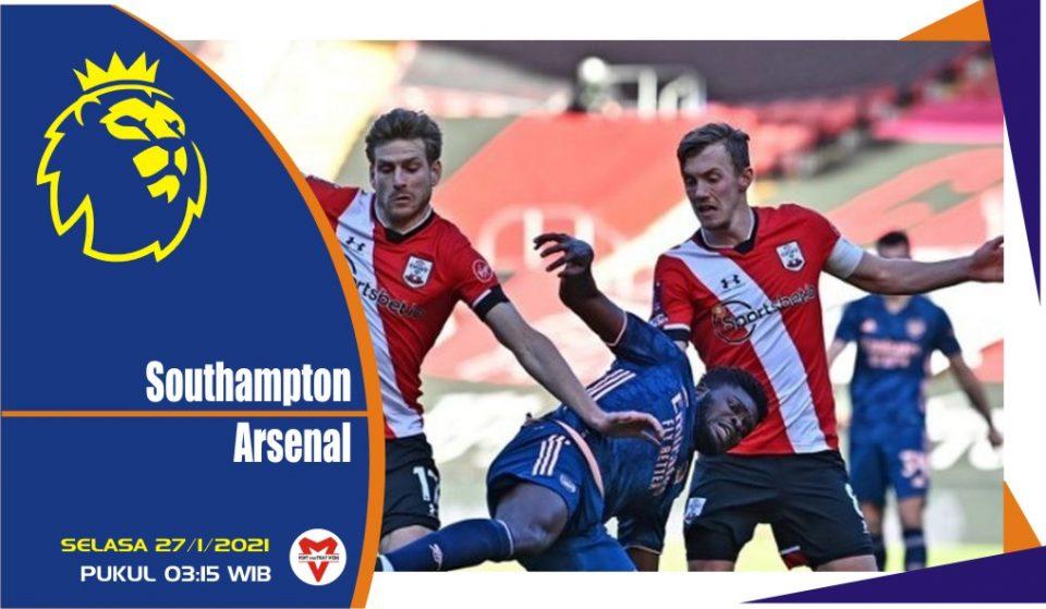 Prediksi Pertandingan Liga Inggris: Southampton vs Arsenal
