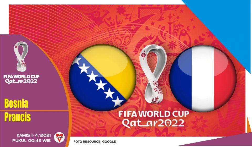 Prediksi Pertandingan Bosnia-Herzegovina vs Prancis - 1 April 2021