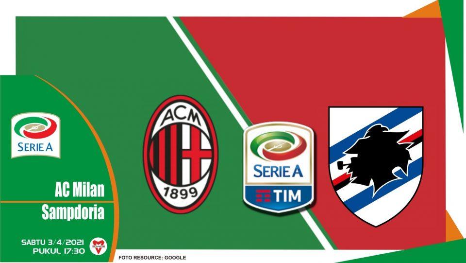 Prediksi Liga Italia: AC Milan vs Sampdoria - 3 April 2021